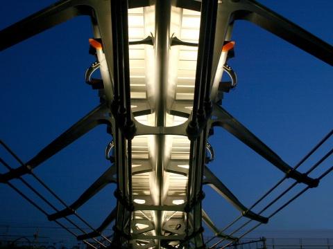 Zouthaven voetgangersbrug Amsterdam
