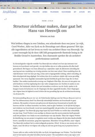 Archined - 'Structuur zichtbaar maken, daar gaat het Hans van Heeswijk om'