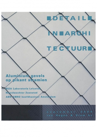 Detail in Architectuur, september 2000 - 'Glazen serregevel met messcherpe facetten'