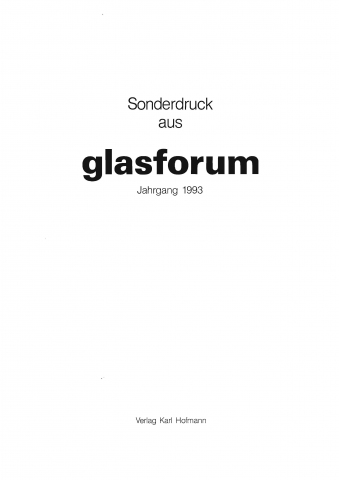 Glasforum #5, 1993 - 'VSB Bank in Haarlem (NL)'