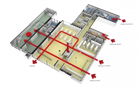 Anne Frankhuis studie bezoekerslogistiek