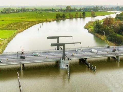 Werkzaamheden reconstructie Vechtbrug Weesp van start.